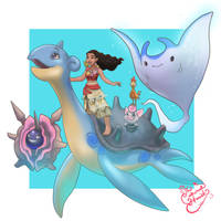 Moana Pokemon Trainer by TheCrownedHeart