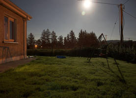 Full Moon, Long Exposure by Damaged666