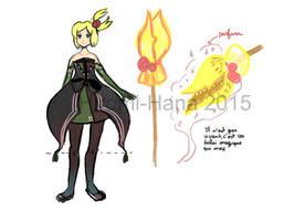 Sketch: Elwe et son balai magique by hiromihana