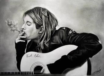Kurt Cobain by Tresdiasdegracia
