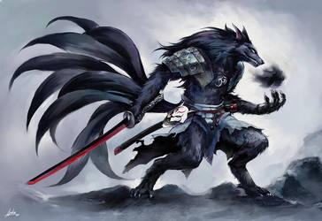 Kitsune samurai by PVTjoe