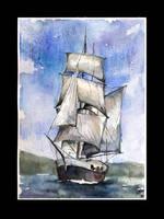 Sail ship by sanderus