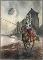 Winged horseman X by sanderus