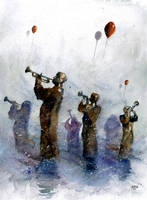 The improvisation on 3 trumpets and 3 balloons by sanderus