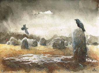 Ravens from Carnac by sanderus