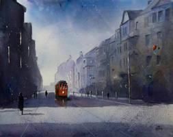 The Kosciuszki Street in Katowice by sanderus