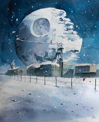 A death star and an old coalmine by sanderus