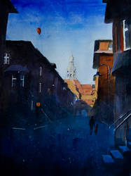 Shadows on the St Annes Street by sanderus