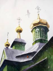 An Orthodox Church in Trzescianka by sanderus