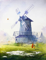 The windmill in Koryciska by sanderus