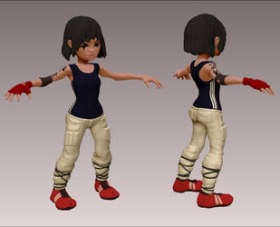 Faith Mirror's Edge Zbrush Character 3d Caricature by zelldweller