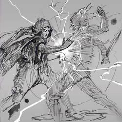 Inktober27 Thunder by zelldweller