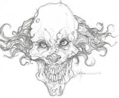 Edward the halloween clown by ChrisOzFulton