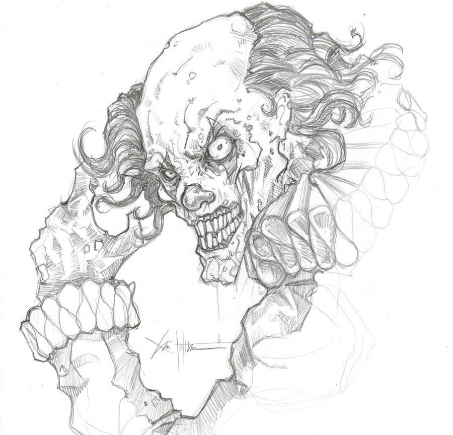 Edward the Halloween clown 2 by ChrisOzFulton