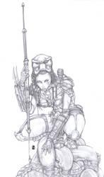 Predator Machiko Noguchi AVP by ChrisOzFulton