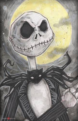 Jack Skellington A Nightmare Before Christmas by ChrisOzFulton