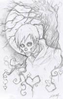 Hobo Heart Sketch Creepypasta by ChrisOzFulton