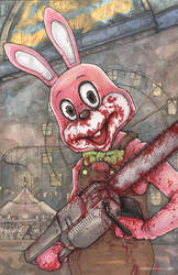 Robbie The Rabbit Silent Hill by ChrisOzFulton