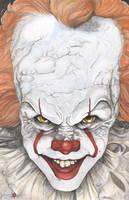 IT Pennywise The Clown Bill Skarsgard Stephen King by ChrisOzFulton