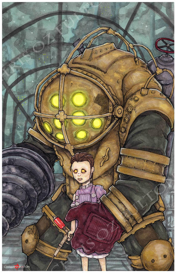Bioshock Big Daddy Little Sister by ChrisOzFulton