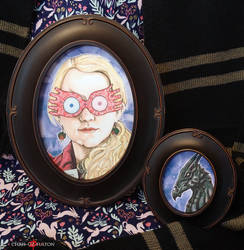 Luna Lovegood Thestral Framed Print Set by ChrisOzFulton