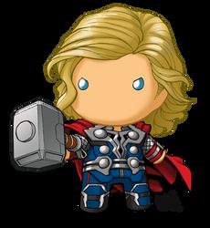 chibidoll Thor by KevinRaganit