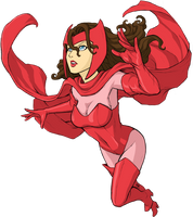 Scarlet Witch color by KevinRaganit