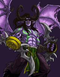 World of Warcraft Tribute Illidan Stormrage by KevinRaganit