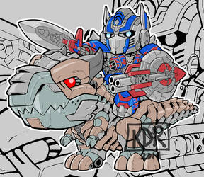 Aoe Optimusprime Grimlock to battle by KevinRaganit