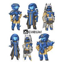 Rough Sketch Trials of Osiris Year 3 Armor Set by KevinRaganit
