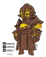 Destiny Rise of Iron Warlock Year 3 Rough Sketch by KevinRaganit