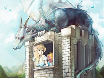 Princess and her dragon by MeryChess