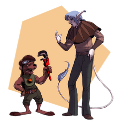 Commission for Wazaga - Auron and Zack by MiloNeuman