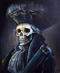 Portrait. Mr Skeleton by Monochrome-Clown