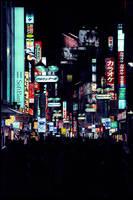 Japan - Street Night by NicoFX