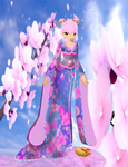 OC Eustacia - Asian Fashion commisson with bg by ladykraven