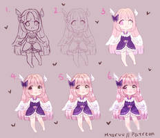 (AT) Rina step by step by Myaruu