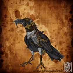 Steampunked Raven by SHAD0W-SEEKER