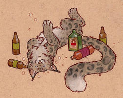 commission - drunk puff by luve