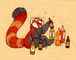 red pandas AND alcohol by luve