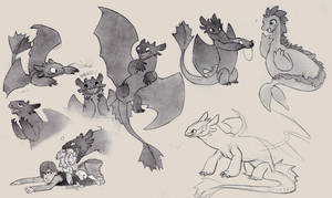 HTTYD fan doodled - toothless by luve