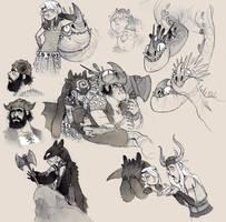 HTTYD fan art doodles - extra by luve