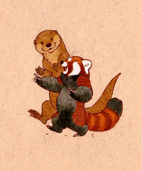 skbk otter and panda by luve