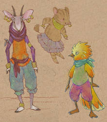 colorful kids by luve