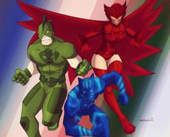 Pj Masks-Battle Artists by BrofessorX