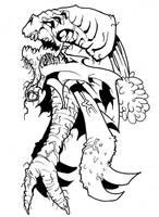Ninja zombie carrot monster by SeigneurRuei