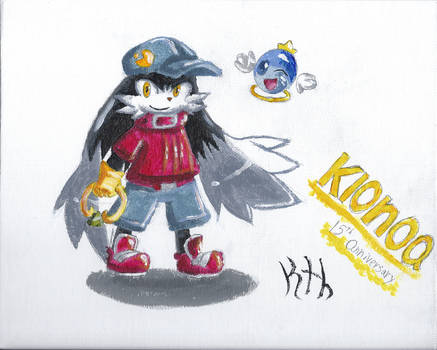 Klonoa 15th anniversary painting by KthTheArtist