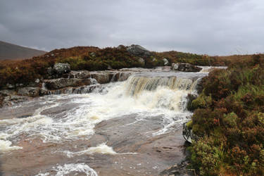 Rannoch Moor Waterfall by MaresaSinclair
