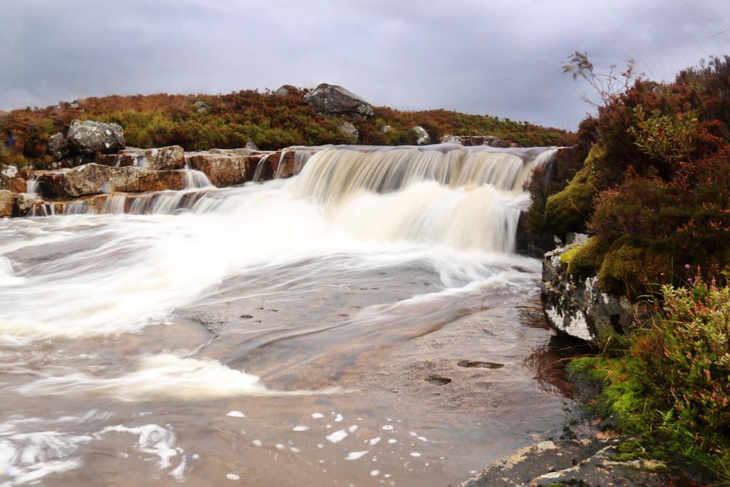 Rannoch Moor Waterfall Slow Shutter by MaresaSinclair