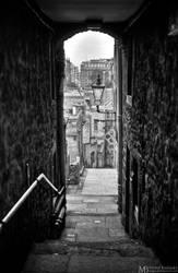 Narrow street by Yupa